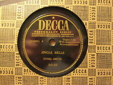 ETHEL SMITH - Jingle Bells / White Christmas  DECCA 24142 - 78rpm xmas