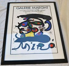 "Joan Miro Lithograph Poster titled ""Balerie Maeght 1971"" with COA"