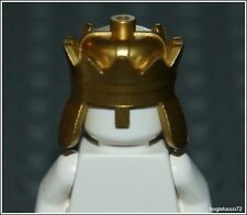Lego Castle x1 Metallic Gold Crown King Prince Queen Knight Armor Minifigure NEW