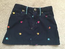 GAP 2T 24 m Skirt Navy Embroidered Flowers Spring Summer Adjustable Waist
