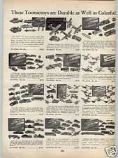 1938 PAPER AD Tootsietoy Toy BUCK ROGERS SET Cars Trucks Planes Daity Milk