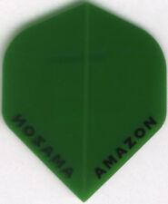 GREEN Transparent AMAZON Dart Flights: 3 per set