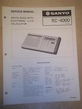 Sanyo Service Manual~RC-4000 Calculator/Radio~Original~Repair