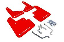 Rally Armor Mud Flaps Guards for 14-16 Mazda Mazda3 (Red w/White Logo)