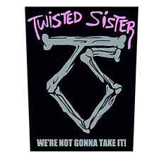 TWISTED SISTER Backpatch WE´RE NOT GONNA TAKE IT♫ Rückenaufnäher ♫ Heavy Metal ♫
