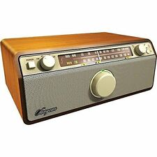 Sangean WR-12 AM/FM Analog Wooden Cabinet Receiver (Walnut)