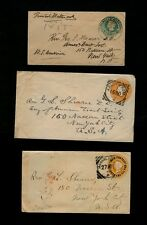 THREE 1890/1903 India Covers to American Tract Society, 150 Nassau St., NYC USA