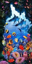 100% COTTON LARGE SEA LIFE CORAL REEF BEACH TOWEL HOLIDAY SWIMMING BATH TOWEL
