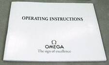Omega Watch Operating Instructions Manual Booklet Mult.Calibre 03090300