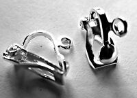 20 SILVER PLATED CLIPON CLIP ON EARRING FINDINGS