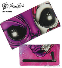 Iron Fist pink/multi Color Ovni medio wallet/purse (Goth, Punk, Zombie)