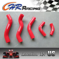 SILICONE RADIATOR COOLANT HOSE KIT FOR HONDA CR125R CR125 1998-1999 98 99 RED