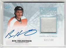 2011-12 SP Authentic Limited Patches #278 Ben Holmstrom AU 35/100 RC-parallel