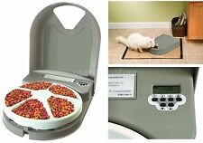 PetSafe Automatic Feeder 5 Meal Dog Cat Food Programmable Electronic Dish Bowl