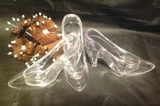 24 Clear Large Fillable Cinderella Slipper Wedding Favor Holders plastic shoes