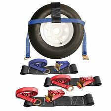 "4 Master Tow Dolly Basket Straps 13""-20"" Blue Red"