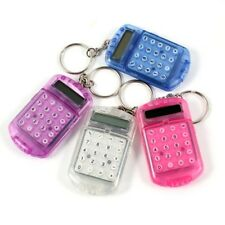 Pocket Plastic 8 Digits LCD Display Mini Calculator with Keyring + Hook