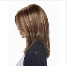 HELLOJF1299 beautiful  short brown mixed blonde health hair wig wigs for women
