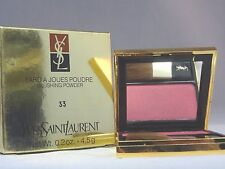 YVES SAINT LAURANT -  FARD A JOUES POUDRE - BLUSHING POWDER - #33 - NEW IN BOX
