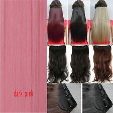 100 Long Real Hair Full Head Clip in Hair Extensions Thick As Human Piece Shade