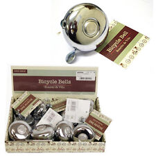 BICYCLE BELL RING BIKE STAINLESS STEEL CHROME VINTAGE RETRO ALARM LOUD RINGING
