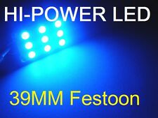 39 MM BLUE LED Festoon 9 LED Dome Interior Festoon Bulb SUPER BRIGHT 12V