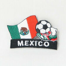 MEXICO SOCCER FOOTBALL KICK COUNTRY FLAG EMBROIDERED IRON-ON PATCH CREST BADGE