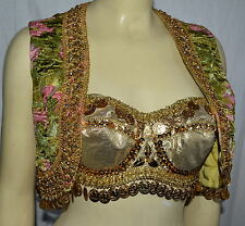 Belly Dancing Outfit Dance coin ONE OF A KIND vintage vest Harem Pants Bra Top