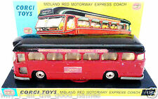 CORGI MAJOR 1120 MIDLAND MOTORWAY EXPRESS COACH Diecast Model & Custom Display