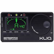 KLIQ MetroPitch - Digital Tuner Metronome for All Instruments, Black