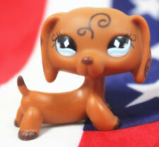 #640 Littlest Pet Shop Brown Dachshund Puppy Dog diamond Eyes LPS
