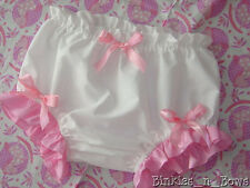 Adult Baby Sissy Dress Up - SIMPLY WHITE Diaper Cover