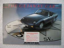 Reliant Scimitar SS1 brochure c1986 -1300 & 1600 models