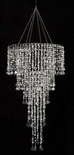 Large Combination Acrylic Crystal Diamond Cut CHANDELIER & Light Kit