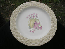 Sonoma In the Garden (Pitcher) Gold Basket Weave Rim Beige Dinner Plate