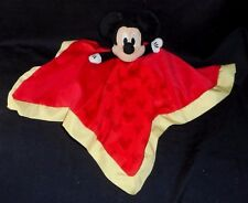 DISNEY MICKEY MOUSE RED SNUGGLE BABY SECURITY BLANKET STUFFED ANIMAL PLUSH TOY