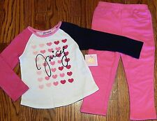 JUICY COUTURE TODDLERS/KIDS GIRLS BRAND NEW 2Pc DRESS LEGGING SET Size 2T, NWT