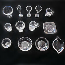 17pcs/Set Dollhouse Mini Drink Cups Goblets Dish Plate Tableware Decor