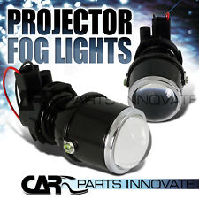 GLASS LENS PROJECTOR FOG LIGHTS DRIVING LAMPS KIT PAIR with H3 BULBS+BRACKETS