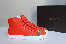 8.5 / 38.5 GUCCI California Studded Lace up High Top Orange Womens Sneaker Shoes