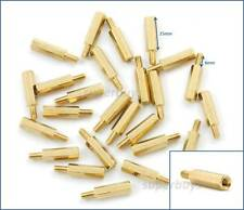 25pc 15mm M3 Male Female Brass Hex Standoff Spacer Screw Separator Stand Off PCB