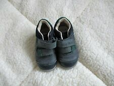 baby boys clarks first shoes  navy & green size 4F