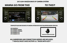 2013-2015 CX6 Mazda CAR Back Up Camera System Rear View Camera Kit with harness