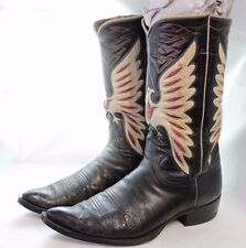 Vintage Tony Lama Cowboy Boots Men's Size 8 Women's Size 10 FREE SHIPPING