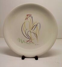 PICASSO SEYEI JAPAN JPC FINE CHINA PORCELAIN PLATE ART ROOSTER LE COQ