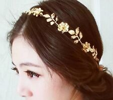 Fashion Golden Leaf Flower Head Chain Jewelry Headband Head Piece Hair band AH