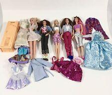 Mixed Lot 5 Dressed Mattel Barbie Friends Sabrina Fashionista Clothes Locker