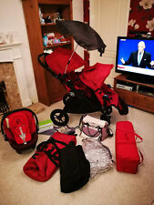 City Select Baby Jogger Double Buggy + Car Seat, Travel Cot, Changing Bag & more