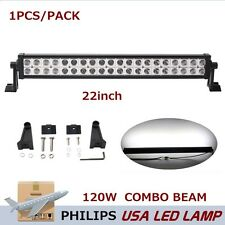 Philips 22inch 120W LED Driving Work Light Bar Spot Flood Offroad Truck AYV BAOT