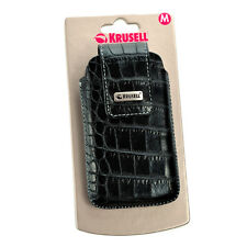Krusell Vinga Croco Universal Handy - Tasche, Größe M, croco/schwarz, Case